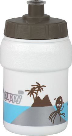 Guppy Bottle - Soft push-pull tip. Regular Hi-Flow of liquid . Ergonomic grip. We don't recommend heating the bottle in a microwave since contents can heat unevenly. We only recommend putting warm liquids in the Kids bottles. Complies with food contact regulations.