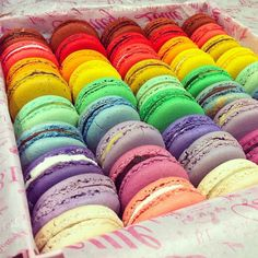 Macaroons from Bottega Louie. Beautiful colours.