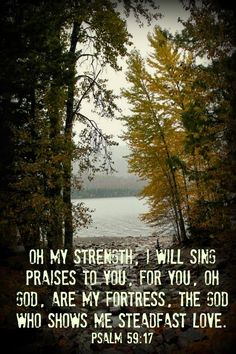 Praising God in the Storm! http://bec4-beyondthepicketfence.blogspot.com/2014/10/sunday-verses.html God is the one who shows me steadfast love.