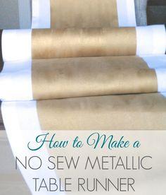Make a No-Sew Metallic Table Runner