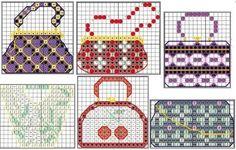 0 point de croix sacs à main - cross stitch handbags