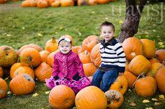 Pumpkin patch portraiture inspiration