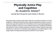 From the Journal of Play: Research that supports play to increase academic achievement. Research In Education, Homemade Toys, Brain Breaks, Physical Activities, Physics, Core, Student, Journal, Play