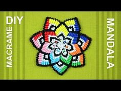 Colorful Mandala Flower in Macramé / DIY Tutorial