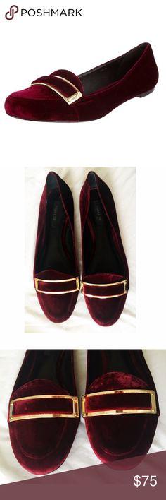 RACHEL ZOE burgundy velvet flats Beautiful velvet flats, only visible wear is on the bottom, great condition Rachel Zoe Shoes Flats & Loafers