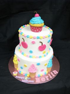 Ice Cream Party Cake!!  Love this!