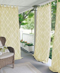 The great outdoors. Give your outdoor patio space a fresh look with the Corado Outdoor Window Treatment Collection from Elrene, featuring an easy-to-use velcro tab top and the durability to withstand