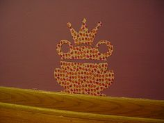 Wall decals with contact paper and Mod Podge
