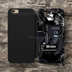 cracked out Glass Wallet Case For iPhone 6S Plus 5S SE 5C 4S case, Samsung Galaxy S3 S4 S5 S6 Edge S7 Edge Note 3 4 5 Cases