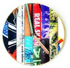 "Basic Skate Clock - 10"" Dia. Recycled Skateboard WallClock by Deckstool contemporary"
