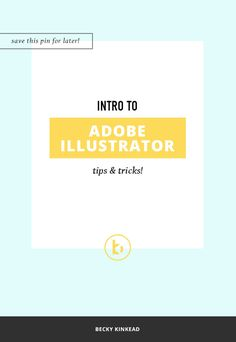 Adobe Illustrator is a powerful program for designing your projects. Check out this intro to illustrator, tips & tricks video to get you started!