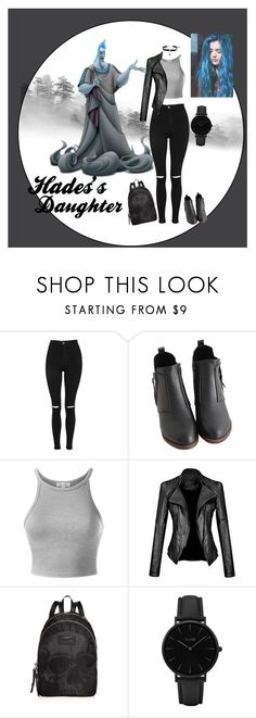 """""""Daughter of Hades"""" by maddie-1214 ❤ liked on Polyvore featuring Topshop, John Varvatos * U.S.A., CLUSE, King Baby Studio, modern, Hades, gods and Descendants"""
