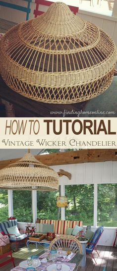 Wicker Shade Chandelier DIY
