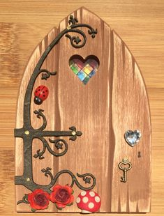 Oaktree Fairies - The Welsh Fairy Door Company. Oak Brown Fairy Door with new Fairytale hinge! www.oaktreefairies.co.uk