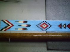 Thunderbird Beaded Hat Band ~ Native American Beaded Hatband Design