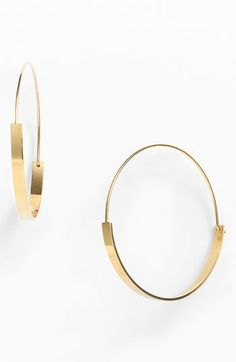 Nordstrom Flat Hoop Earrings