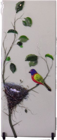 id like to try this idea at my next class.. Dancing Light Fused Glass Art in Huntsville Texas