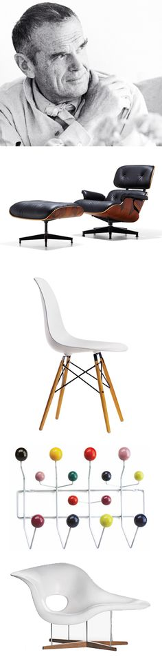 Happy birthday to Charles Eames, he would have turned 108 today!   Born in 1907 in St. Louis, Missouri, he is ver well-known all over the world for his contribution in furniture and industrial #design with his wife Ray.#furniture #vitra @vitra
