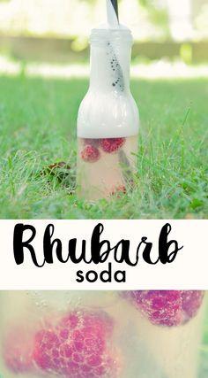 RHUBARB SODA | RAPARPERISOODA Those lazy summer days are almost here! Lazy Summer Days, Summer Nights, Try Something New, Soda, Bottle, Party, Recipes, Beverage, Soft Drink