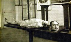 #Photo from the autopsy Albert Fournier a triple murderer and rapist who had been executed by guillotine in Tours France in February 1920. [1024x611] #history #retro #vintage #dh #HistoryPorn http://ift.tt/2gMUcd4
