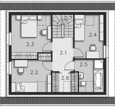 Projekt domu Loreto II DCP304a 100,52 m2 - koszt budowy 153 tys. zł - EXTRADOM Floor Plans, House, Loreto, Home, Homes, Floor Plan Drawing, Houses, House Floor Plans