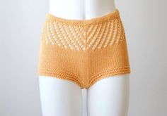 Click buy if you like !  Knitted summer shorts-bloomers-panties in apricot color