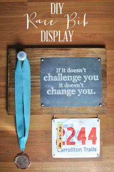 DIY Race Bib Display - Wit & Wander for By Dawn Nicole 4