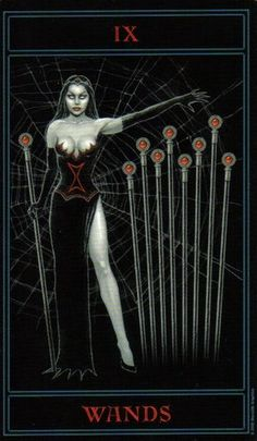 The Gothic Tarot: Nine of Wands
