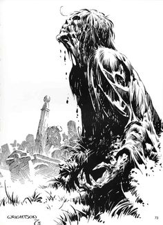 Bernie Wrightson - Character Design Page    One of the BEST illustrators...ever!!