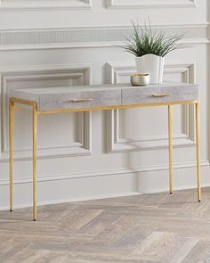 In case the table is put behind a sofa it shouldn't be taller than the rear of the sofa or longer than the sofa. A console table is an excellent and practical bit of furniture. A lovely gold gilt console… Continue Reading → Marble Furniture, Furniture Decor, Modern Furniture, Furniture Design, Furniture Movers, Furniture Storage, Handmade Furniture, Rustic Furniture, Luxury Furniture