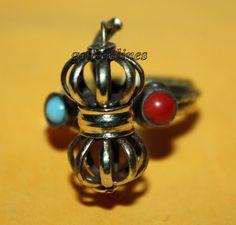 Nepalese Tibetan Wheel Handmade Brass Ring Tibetan by goldenlines