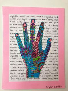 Henna Hand with personalized background
