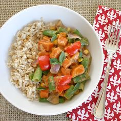 Vegetables in Red Curry