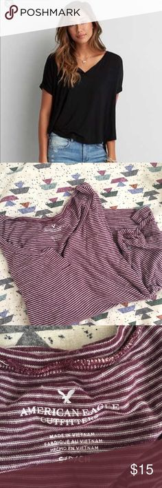 AEO Soft and Sexy Top Sooo flowy and comfy . Good condition! Offer and bundle 💕 American Eagle Outfitters Tops Tees - Short Sleeve
