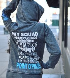Squad sweatshirts are here! Get your camp name hoodie today. #squad #camplesters #lesters 👯👭