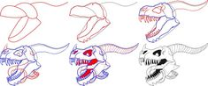 How to Draw A Dragon Skull
