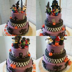 Halloween mnion cake