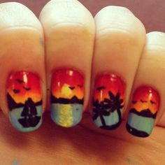 """""""#emmacarrnails #sunsetnails #sunsetnailart #beachnails #beachnailart #nailart #naildesign #nails2inspire inspired by @_lastrega"""" Photo taken by @emmacarrnails on Instagram, pinned via the InstaPin iOS App! http://www.instapinapp.com (05/16/2015)"""