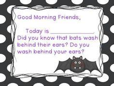 Bats! Morning Message {freebie!}