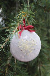 DIY tuto Boule béton en string art