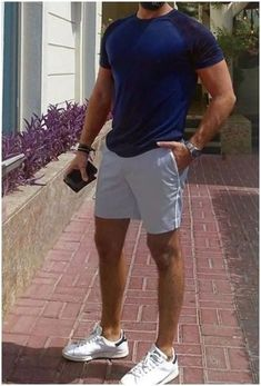 Stylish Mens Outfits, Casual Outfits, Men Casual, Fashion Outfits, Fashion Ideas, Casual Shorts, Fashion Tips, Summer Shorts Outfits, Men's Beach Outfits