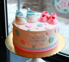 gender reveal cakes images | Gender Reveal Cake by Whipped Bakeshop