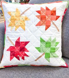 Create September, October, November & December of our Pillow of the Month club! Diy Eye Mask, Kids Bean Bags, Small Sewing Projects, Fabric Boxes, Quilted Pillow, Pillow Forms, Me As A Girlfriend, Pillows, Cushions
