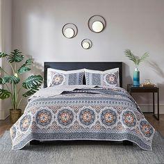 Madison Park Addie 3-Piece Cotton Reversible Coverlet Set | Bed Bath & Beyond Cotton Quilts, California King, Park, Bedding Sets, 1 Piece, Bedroom Decor, Master Bedroom, Queen, Furniture