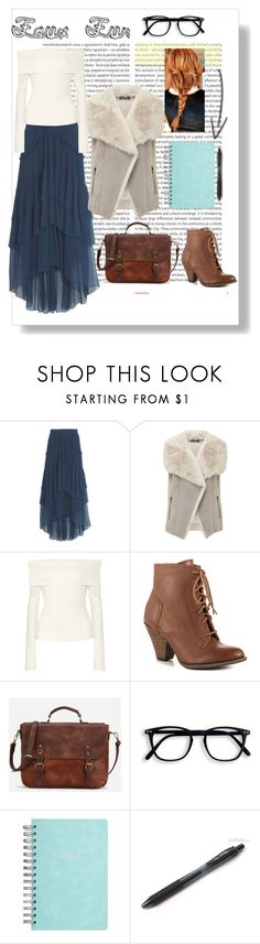 """Faux  Fur 2"" by paper-butterfly-mm on Polyvore featuring moda, Oris, Chloé, Mint Velvet, The Row, Mojo Moxy, Pentel, maxiskirt, vest ve fauxfur"