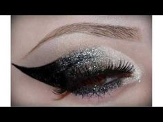 Exotic Eye Makeup with Glitter