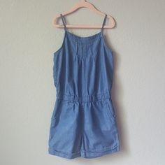 GAP Other - Gap Kids Chambray Blue Romper Girl Toddler, Gap Kids, Chambray, Kids Shop, Rompers, Blue, Things To Sell, Dresses, Fashion