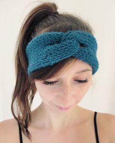 DIY kostenlose Strickanleitung für Knoted Band Stirnband