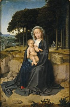 https://flic.kr/p/oe6djG | Rest on the Flight from Egypt | c. 1515. Oil on panel. 60 x 39 cm. Museo Nacional del Prado, Madrid. P02643.