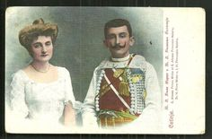 Prince Mirko of Montenegro with Princess Natalija Cetinje ca.1906.  Prince Mirko was a younger son of Nicholas I of Montenegro and a brother of Crown Prince Danilo.  He died young, before either his father or brother.
